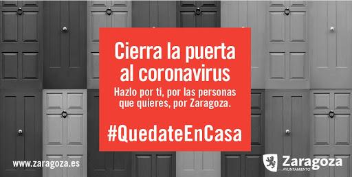 Quedate en casa Ayuntamiento Zaragoza coronavirus covid 19