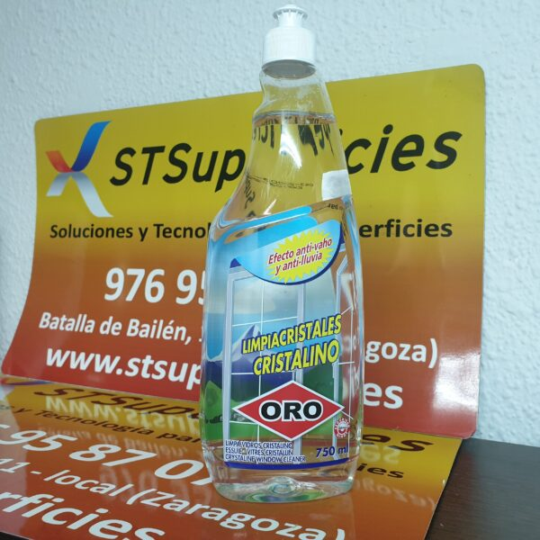 Limpiacristales Cristalino con pulverizador Oro 750 ml.